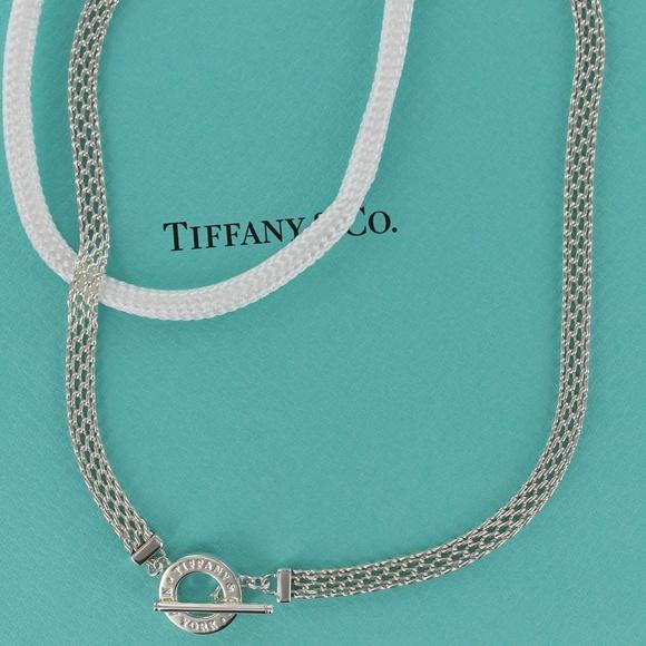 fcc35385a Tiffany & Co. Jewelry | Rare Tiffany Somerset Mesh Toggle Necklace ...